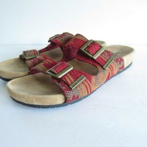 Minnetonka Slide Sandals Aztec Southwest Print